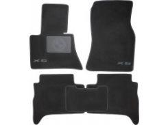 Коврики в салон для BMW X5 E53 '00-07 текстильные, черные (Люкс) без лентяйки