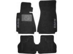 Коврики в салон для BMW 5 E39 '96-03 текстильные, черные (Люкс) без лентяйки