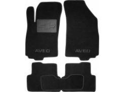 Коврики в салон для Chevrolet Aveo '11- текстильные, черные (Люкс)