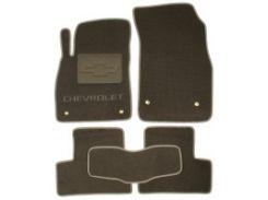 Коврики в салон для Chevrolet Cruze '09- текстильные, серые (Люкс)