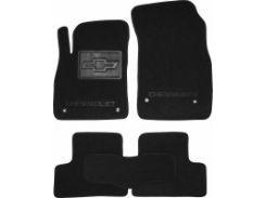 Коврики в салон для Chevrolet Cruze '09- текстильные, черные (Люкс)