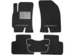 Коврики в салон для Chevrolet Epica '07-12 текстильные, серые (Люкс)