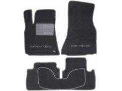 Коврики в салон для Chrysler 300 C '04-10 текстильные, серые (Люкс)