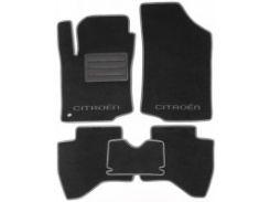 Коврики в салон для Citroen C1 '05-14 текстильные, серые (Люкс)