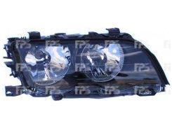 Фара передняя для BMW 3 E46 '98-01 левая (DEPO) черная вставка 2008090E