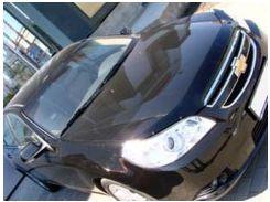 Дефлектор капота для Chevrolet Epica '07-12, черный (SIM)
