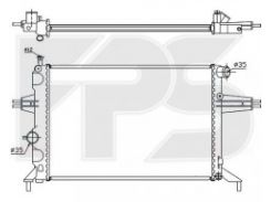 Радиатор охлаждения двигателя для OPEL (NRF) FP 52 A314-X
