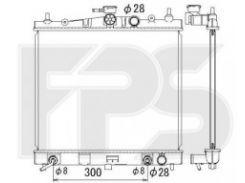 Радиатор охлаждения двигателя для NISSAN (KOYORAD) FP 50 A1347-X