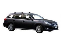 Багажник в штатные места для Subaru Legacy Outback '10-14, до края опоры (Whispbar-Prorack)