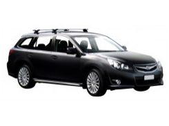 Багажник в штатные места для Subaru Legacy Outback '10-14, сквозной (Whispbar-Prorack)