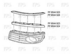 Решетка радиатора для Volkswagen Golf VI '09-12 черная (FPS)