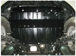 Защита картера двигателя для Skoda Yeti '09-17, 1,2TSi; 1,8Tsi, мет. подрамник, 4x4 (Полигон-Авто)