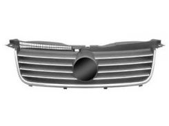 Решетка радиатора для Volkswagen Passat B5 '00-05 хром/черная (Tempest)