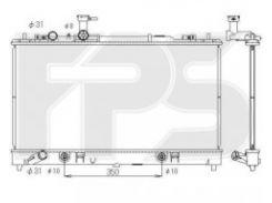 Радиатор охлаждения двигателя для MAZDA (KOYORAD) FP 44 A1381-X