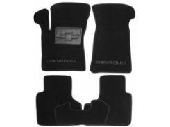 Коврики в салон для Chevrolet Niva '02- текстильные, черные (Люкс)