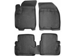 Коврики в салон для Chevrolet Aveo '04-11 полиуретановые, черные (L.Locker)