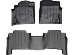 Коврики в салон для Lexus LX 570 '08-12 черные, резиновые 3D (WeatherTech)
