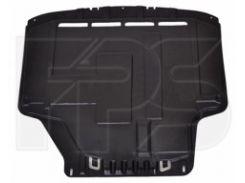 Защита двигателя пластиковая для Ford Fiesta '09-13, войлок (FPS)