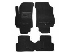 Коврики в салон для Chevrolet Orlando '11- текстильные, черные (Люкс) 1+2 ряд