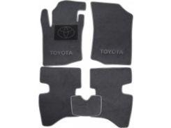 Коврики в салон для Toyota Aygo '05- текстильные, серые (Люкс)