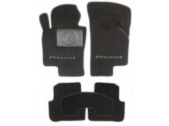 Коврики в салон для Volkswagen Passat B6 '05-10 текстильные, черные (Люкс)