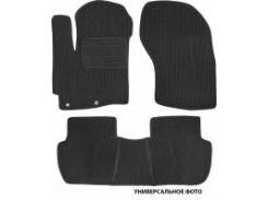 Коврики в салон для Nissan Tiida '05- текстильные, темно-серые (Корона)