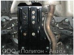 Защита дифференциала для Nissan X-Trail '08-, АКПП/МКПП (Полигон-Авто)