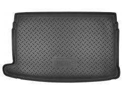 Коврик в багажник для Volkswagen Polo '09-17 хетчбэк, верхний, полиуретановый (NorPlast) черный