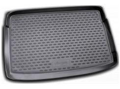 Коврик в багажник для Volkswagen Polo '09-17 хетчбэк, верхний, полиуретановый (Novline) черный