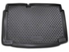 Коврик в багажник для Volkswagen Polo '09-17 хетчбэк, нижний, полиуретановый (Novline) черный