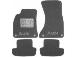 Коврики в салон для Audi A5 '07- Coupe текстильные, серые (Премиум) 4 клипсы