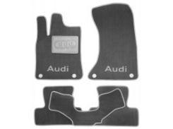 Коврики в салон для Audi A5 '07-16 Coupe текстильные, серые (Люкс) 4 клипсы