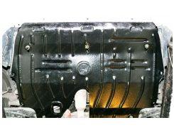 Защита картера двигателя для Skoda Fabia '99-07, 1,4; 1,9, авто оборудовано балкой (Полигон-Авто)