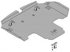 Защита двигателя и радиатора для Subaru Tribeca '04-07, V-3,0, АКПП (Кольчуга)