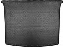 Коврик в багажник для Volkswagen Caddy '04-15, без обшивки багажника, полиуретановый (NorPlast) черный