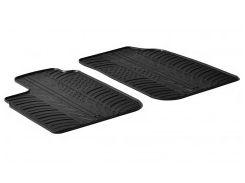 Коврики в салон передние для Dacia Logan '04-12, резиновые (GledRing)
