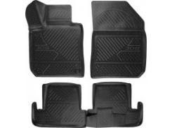 Коврики в салон для Peugeot 308 '14- хэтчбек полиуретановые, черные (Novline / Element) 3D