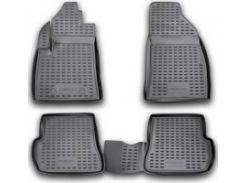Коврики в салон для Ford Fusion '02-12 полиуретановые, черные (Novline / Element) ELEMENT1667210k