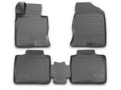 Коврики в салон 3D для Hyundai Grandeur '12- полиуретановые (Novline / Element)