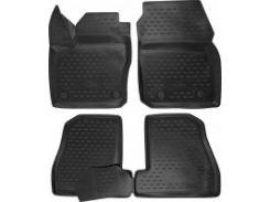 Коврики в салон 3D для Ford Focus III '11- полиуретановые, черные (Novline / Element)