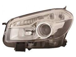 Фара передняя для Nissan Qashqai '10-14 правая (DEPO) D1S + H7 электрич. 26010BR60A