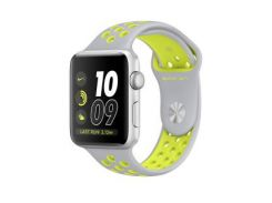 Apple Watch Nike+ 38mm Silver Aluminum Case with Flat Silver/Volt Nike Sport Band (MNYP2) (US)