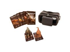 VR ENTERTAINMENT Headset and 4D Dinosaur AR Cards D