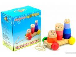 Пирамидка-каталка Мир деревянных игрушек (Д355)