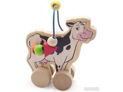 Лабиринт-каталка Мир деревянных игрушек Корова (Д361)