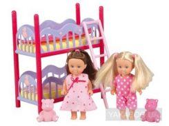 Игровой набор Simba Подружки Эви и двухэтажная кровать (5733847)