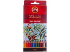 Карандаши цветные акварельные Koh-i-Noor Mondeluz 12 цветов (3716012001KS)