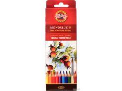 Карандаши цветные акварельные Koh-i-Noor Mondeluz 18 цветов (3717018001KS)
