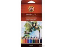 Карандаши цветные акварельные Koh-i-Noor Mondeluz 24 цвета (3718024001KS)