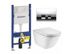 Набор инсталляция Geberit с унитазом Roca GAP Clean Rim A34H47C000+458.126+115.135.21